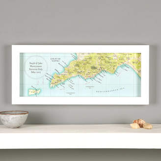 Amalfi by Rangoni Bombus Sorrento, Positano, Hand Drawn Map Print