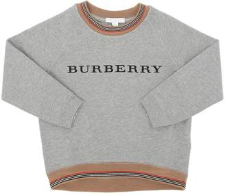 Burberry Logo Embroidered Cotton Sweatshirt