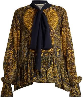 Mary Katrantzou Transcendence Cards-print fil coupé blouse