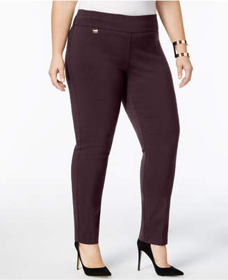 Alfani Plus Size Tummy-Control Pull-On Skinny Pants