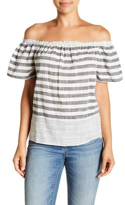 Lucky Brand Off-the-Shoulder Striped Top