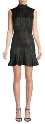 Saloni Printed Silk Short Dress