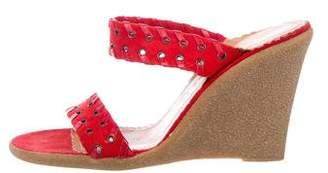 Marc Jacobs Suede Slide Sandals