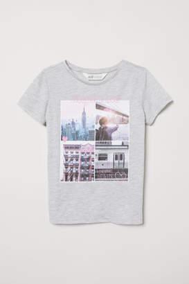 H&M Photo-print T-shirt - Gray