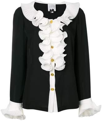 Edward Achour Paris ruffled detail blouse