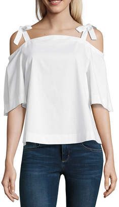 BELLE + SKY Tie Shoulder Top