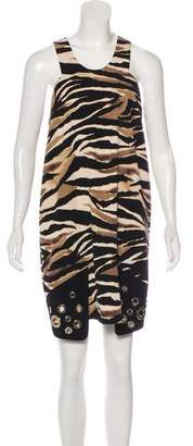 Just Cavalli Printed Embellished Dress w/ Tags