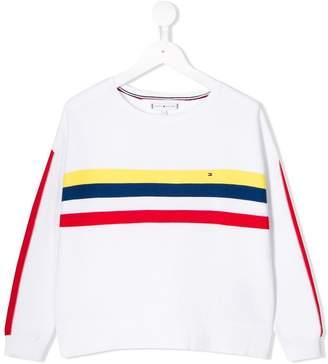 Tommy Hilfiger Junior striped front jumper