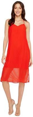 CeCe Lacey - Striped Chiffon Women's Dress