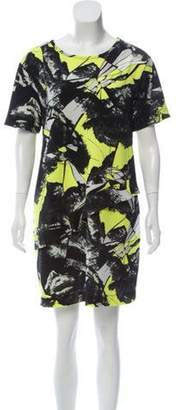 Kenzo Printed Shift Dress Black Printed Shift Dress