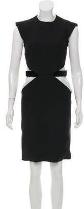 Givenchy Velvet-Accented Sleeveless Dress