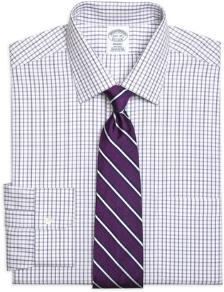 Brooks Brothers Regent Fitted Dress Shirt, Non-Iron Triple Twin Check