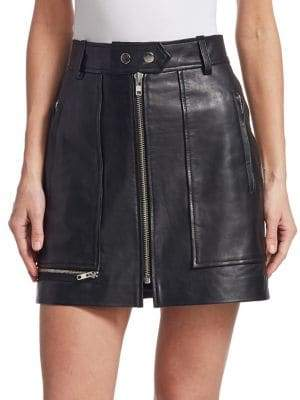 Etoile Isabel Marant Alynna Zip Leather Mini Skirt
