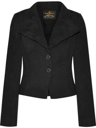 Vivienne Westwood Porta Stretch-denim Jacquard Blazer - Black
