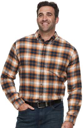 Croft & Barrow Big & Tall Regular-Fit Flannel Woven Button-Down Shirt