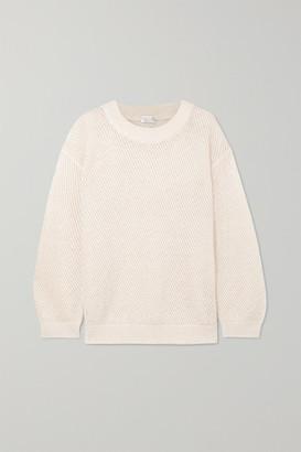 Brunello Cucinelli Metallic Open-knit Sweater - Cream