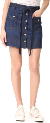 7 For All Mankind A-Line Miniskirt $179 thestylecure.com