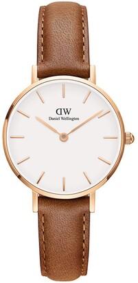 Daniel Wellington Classic Petite Leather Strap Watch, 28mm