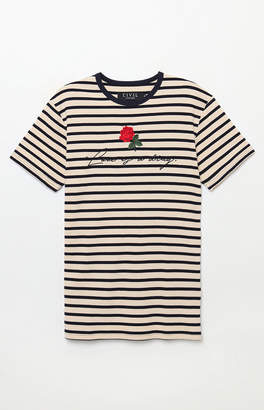 Civil Love Stripe Embroidery T-Shirt