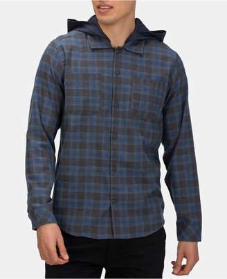 Hurley Men Crowley Washed Hooded Long Sleeve Shirt