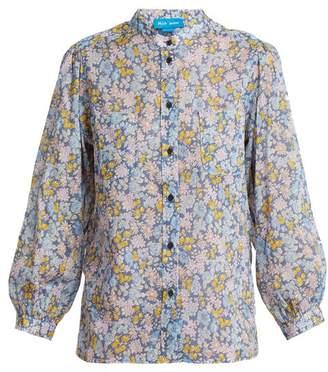 MiH Jeans Lilli Treelove Print Cotton Shirt - Womens - Purple Multi