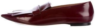 CelineCéline Kiltie Leather Loafers