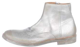 Maison Margiela Metallic Distressed Boots