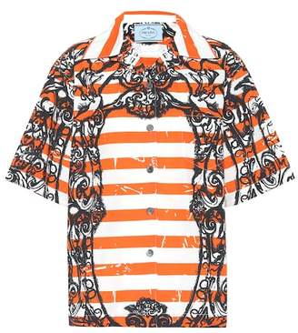 Prada Printed cotton shirt