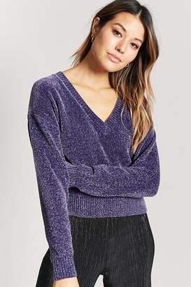 Forever 21 Chenille V-Neck Sweater