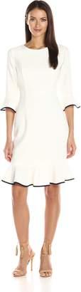 Nanette Lepore Nanette Women's 3/4 Sleeve Flounce Dress
