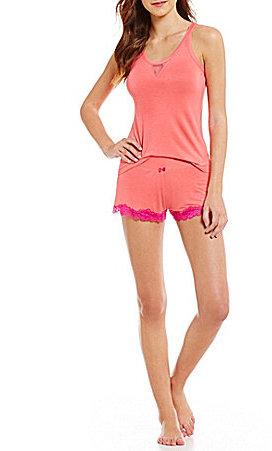 Betsey JohnsonBetsey Johnson Knit & Dotted Mesh Pajamas