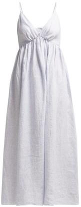 Loup Charmant Adelaide Linen Dress - Womens - Blue