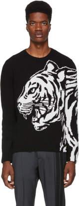 Valentino Black and White Tiger Sweater