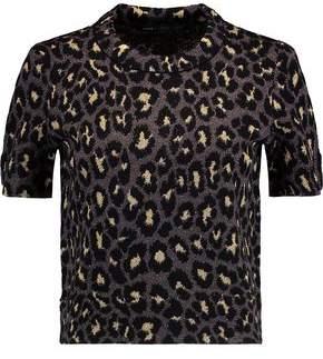 Marc by Marc Jacobs Metallic Leopard Print Wool-Blend Top