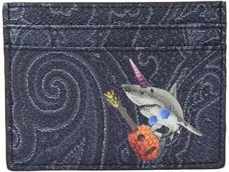 Etro Shark Card Holder Wallet