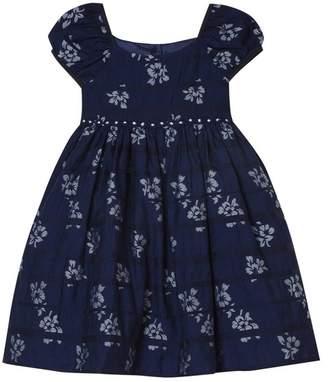 Laura Ashley Floral Shadow Stripe Dress (Baby Girls)