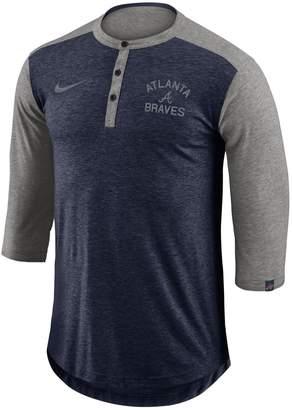 Nike Men's Atlanta Braves Flux Henley