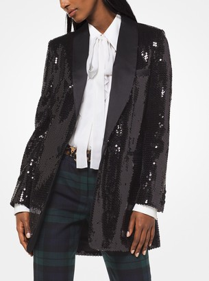 Michael Kors Sequined Tuxedo Jacket