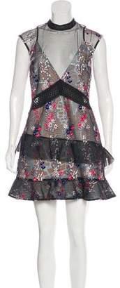 Self-Portrait Lace Sleeveless Mini Dress