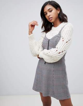 Abercrombie & Fitch pinafore dress in check