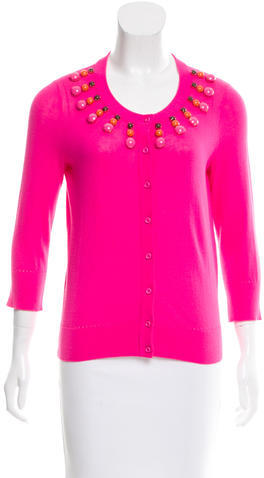 Kate Spade Kate Spade New York Embellished Button-Up Cardigan
