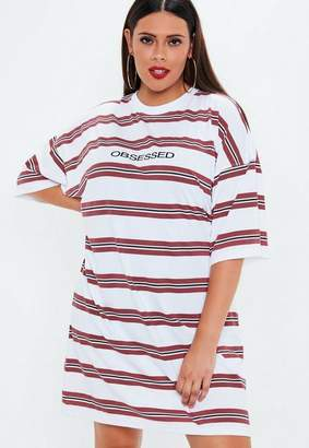 Missguided Plus Size White Obsessed Oversized T Shirt Dress