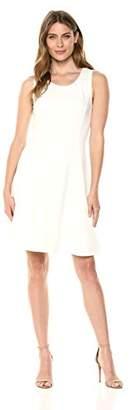 Lark & Ro Women's Sleeveless Crew Neck Fit & Flare Dress