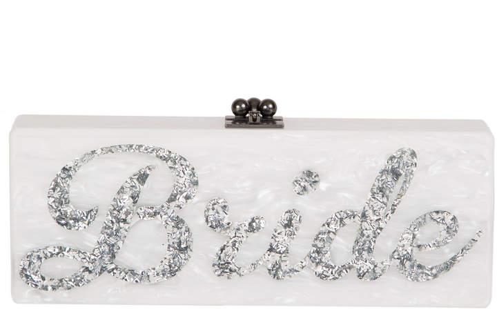 Edie Parker Silver Confetti Flavia Bride Clutch