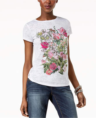INC International Concepts I.N.C. Embroidered Burnout T-Shirt, Created for Macy's