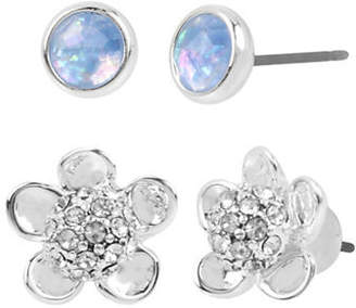 Kenneth Cole New York Two-Pack Crystal and Opal Stud Earring Set