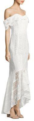 Shoshanna Lace Vanowen High-Low Dress $625 thestylecure.com
