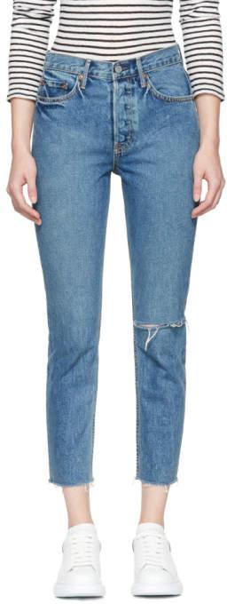 Blue Karolina Knee Rip Jeans
