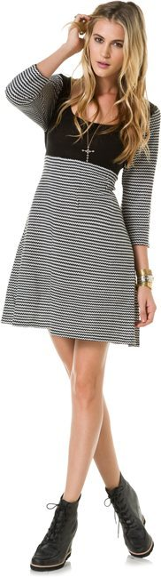 Angie Zig Zag Sweater Dress