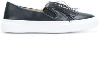 Fabiana Filippi fringe front slip-on sneakers